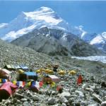 Il campo base a quota 5720 mt.