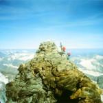 La vetta italiana del Cervino vista da quella svizzera