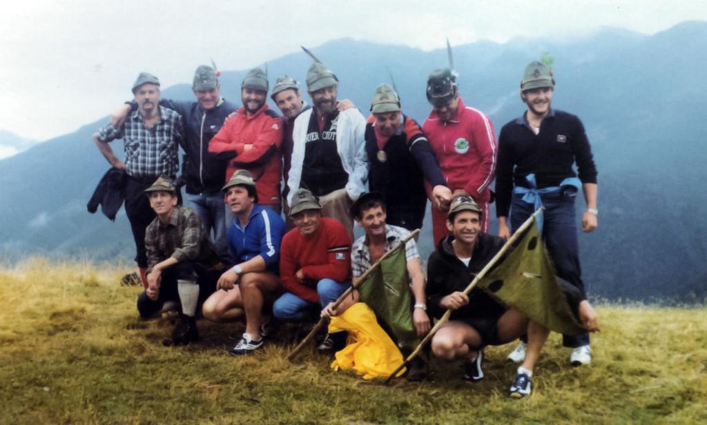 Partecipanti al raid San Bartolomeo - monte Bisbino